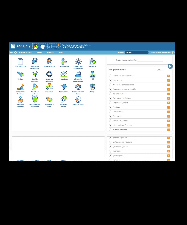 Demo KAWAK software ISO 9001 14001 45001